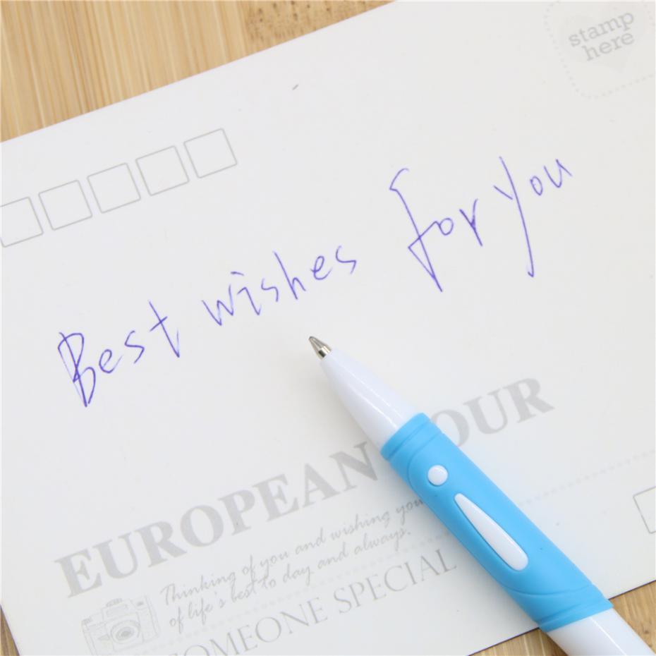 1 Adet Plastik Tükenmez Kalem Preslenmiş Beyaz Çubuk Tükenmez Kalem