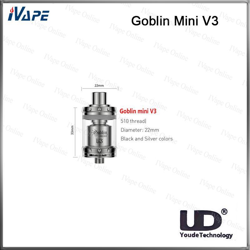 100% оригинал и UD Youde Гоблин мини ДТП распылитель В3 2мл верхнего розлива дна бака контроля потока воздуха двойной пост создавать воздушный поток системы