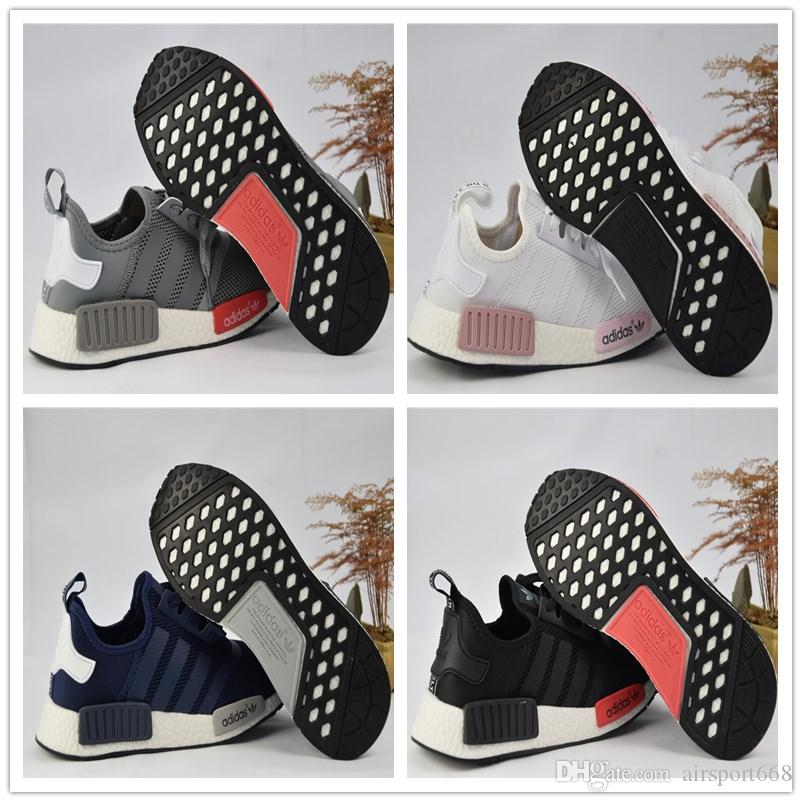 2017 Adidas NMD Runner R1 Again Triple Black White Red Pk 3M Primeknit Men  Women Nmds Boost Running Shoes Sports Shoes Sneakers Eur 36-45 Basketball  Shoes ...