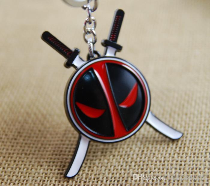 3,8 centimetri di alta qualità Super Hero Deadpool Comics Metal Keychain portachiavi Cartoon Con sigillato Package migliore regalo K46E