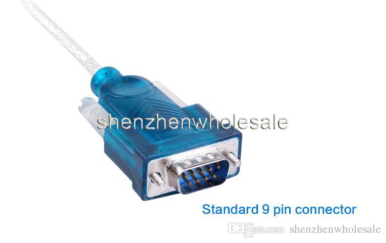 جديد CH340 USB إلى منفذ RS232 COM المسلسل المساعد الشخصي الرقمي 9 دبوس DB9 كابل محول دعم Windows7 بالجملة