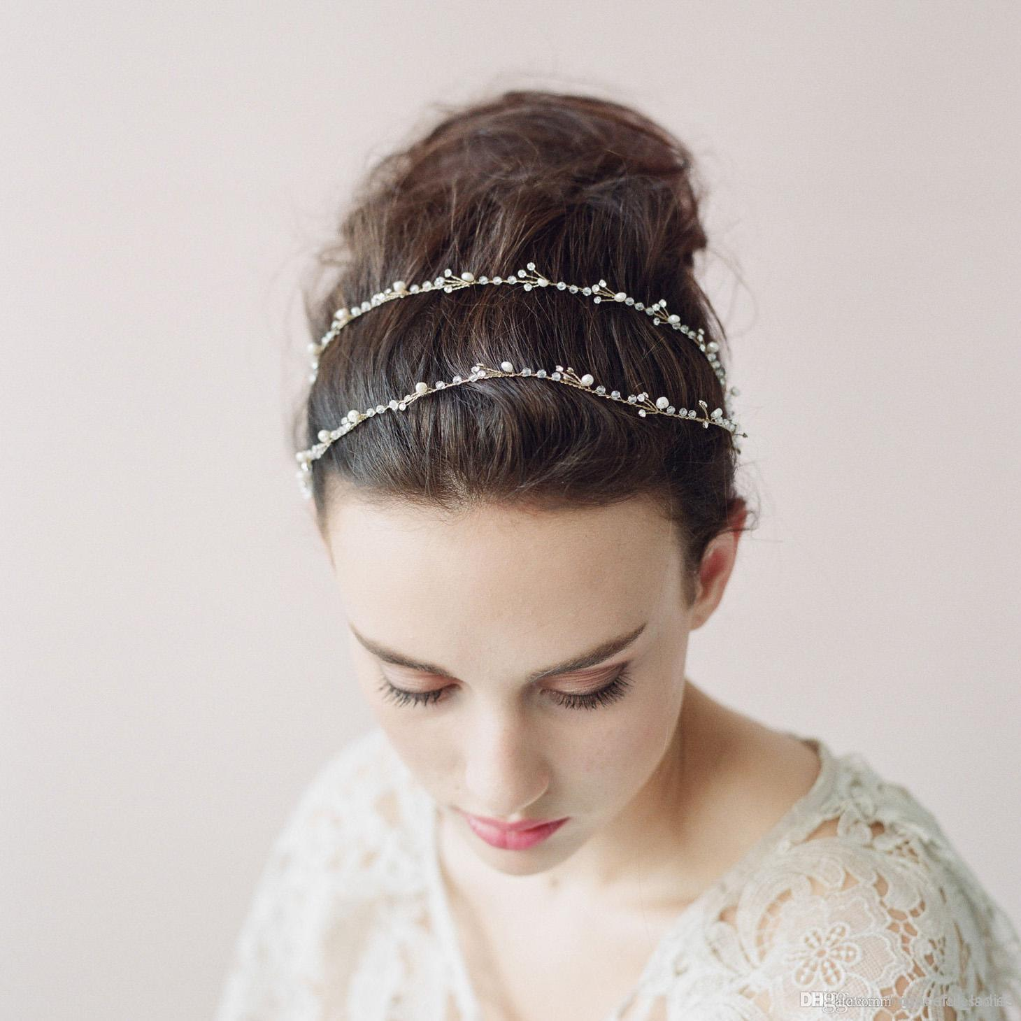 Bridal hair accessories for long hair - Delicate Extra Long Hair Vine Wedding Hair Pins Wedding Headbands Hair Accessories Headbands Headpieces For Weddings Bridal Accessories Bridal Sashes Bride
