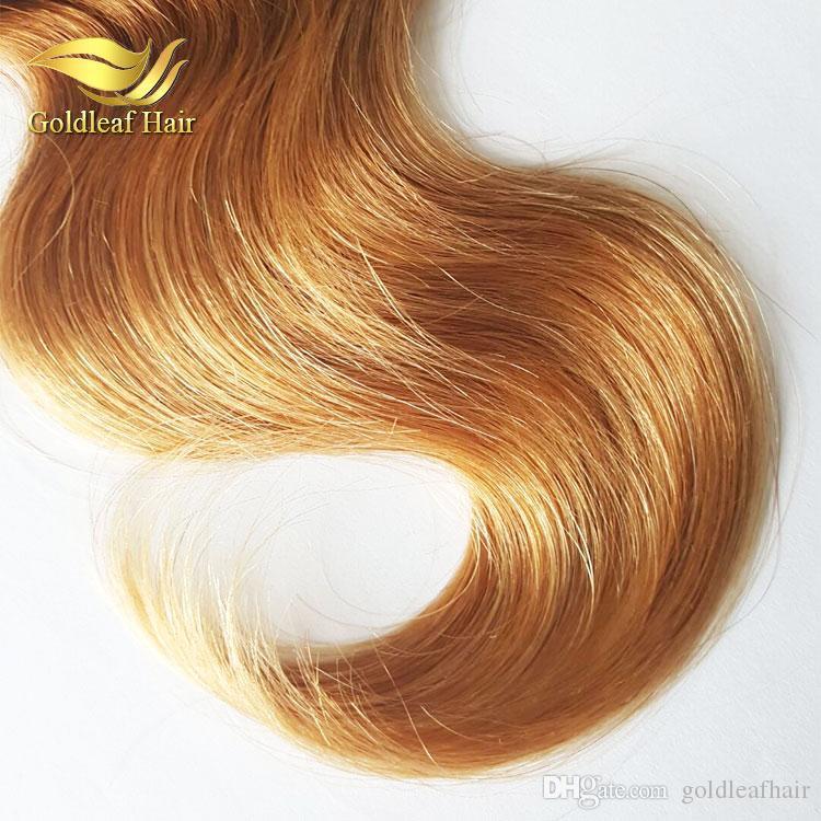 3 Tons Ombre Extensions de Cheveux Brésiliens Cheveux Humains Vague 1B 4 27 Péruviens Brésiliens Malaisiens Indiens Cheveux