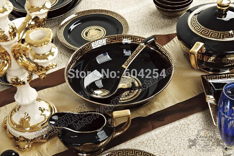 european luxury porcelain tableware suit brand porcelain 14 inch plates bowls cutlery popular. Black Bedroom Furniture Sets. Home Design Ideas