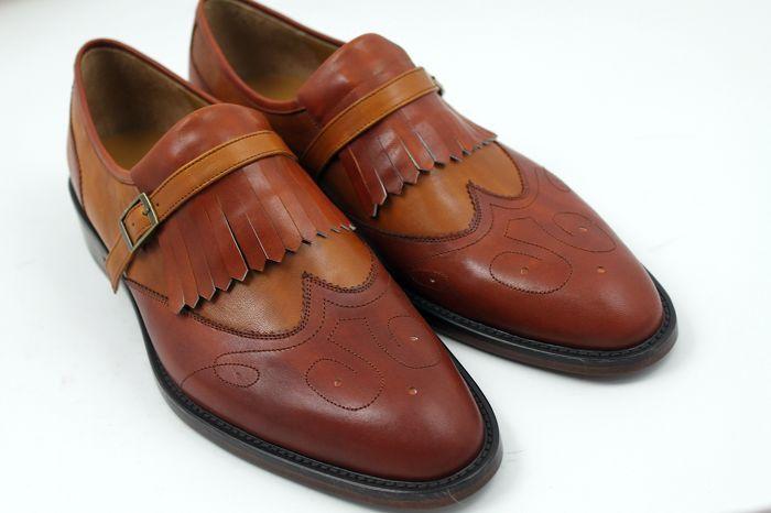 outlet store 3d046 c7fa5 Herren Kleid Schuhe Müßiggänger Schuhe Slipper Schuhe Maßgefertigte Schuhe  Oxfords Herrenschuhe Echtes Kalbsleder Farbe braun HD-N126