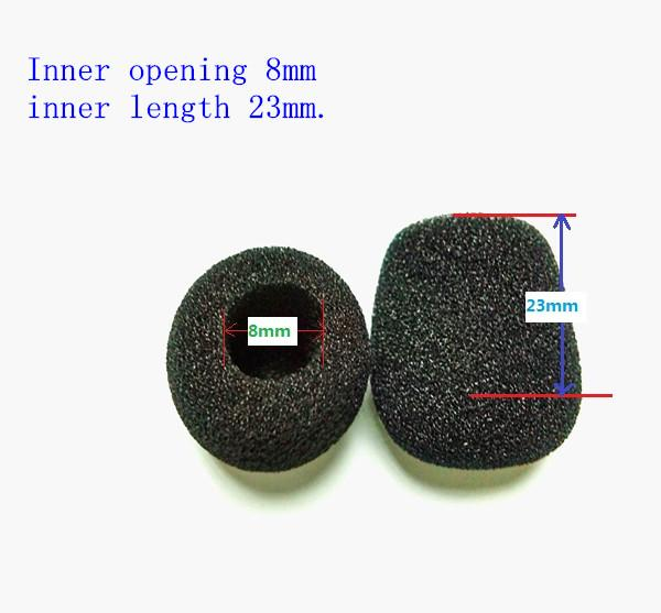 Micriphone windscreen Foam Covers with 8mm Hole Diameter and 23mm inner length