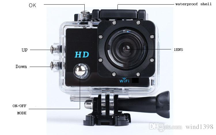X1 720P HD WIFI camera 30M waterproof 2.0 inch LCD display 120 degree wide angle cam outdoor sport DV
