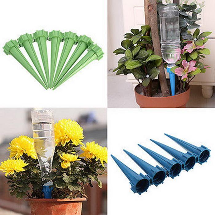 Bottiglia d'innaffiatura Garden Cone Watering Spike Pianta Fiore Waterers Bottle Irrigazione Us Ship Watering Tools Impianto di irrigazione