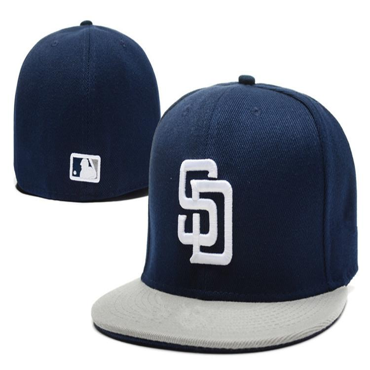 Retro Ball Team Padres Fitted Caps SD Letter Baseball Cap Embroidered Team  SD Letter Size Flat Brim Hat Padres Baseball Cap Size Flat Caps Trucker Caps  From ... 2b5ad06c7e6