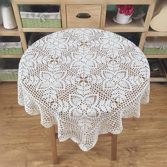 Novo crochet padrão de tampa de mesa quadrada, Quadrado toalha de mesa estilo Vintage, Padrão chique mesa de coco para decoração de casa ~ 34x34