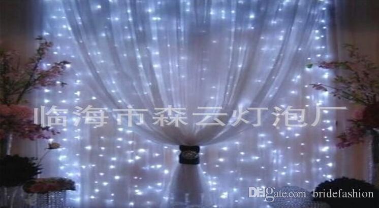 Decorações de casamento festa luzes Decorativas Cortina de luz gelo luz, 3 metros 300LED corda de decoração de casamento 3 * 3 M estrela luz tira quente