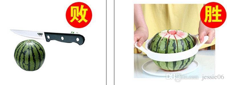 Couteau de coupe à melon d'eau Cantaloup Slicer Séparateur de corers Séparateur de fruits en acier inoxydable