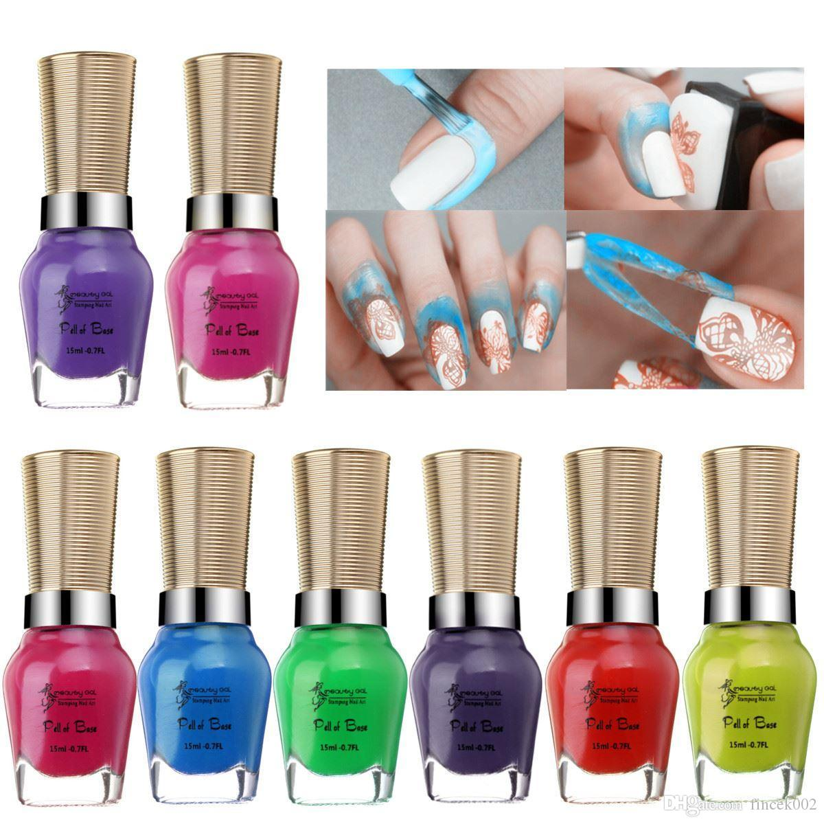 15ml Nail Art Peel Off Base Coat Liquid Latex Tape Skin Protected ...