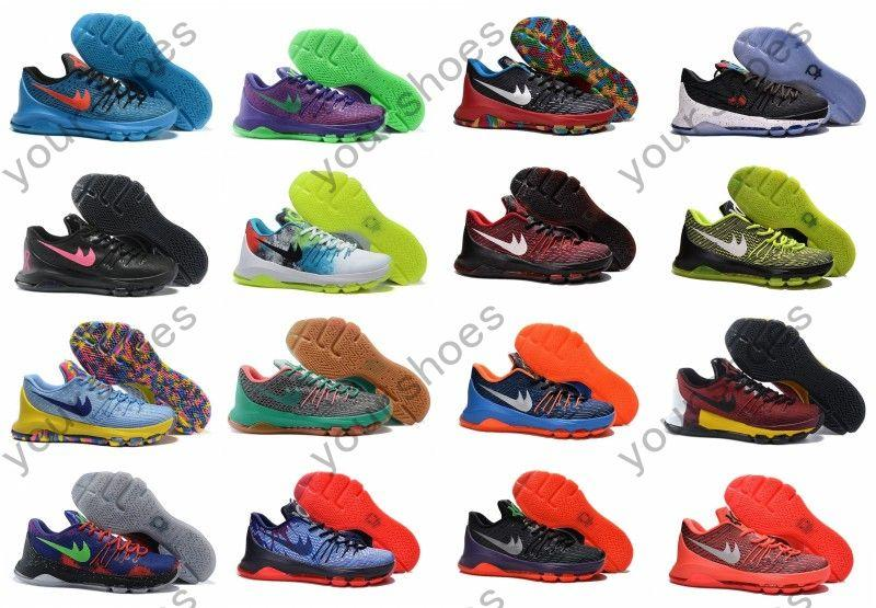 new concept d9fe3 d0f03 ... nike kd 8 christmas Kd 8 Christmas Basketball Shoes White Black Bright  Crimson Kevin Durant Viii Xmas Athletic Shoes Cheap ...