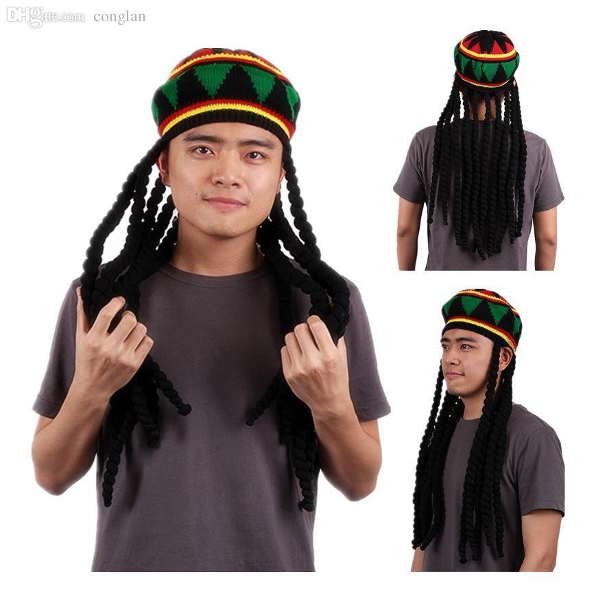 Compre Venta Al Por Mayor Rhasta Sombrero Rasta Jamaica Beanie Knit ...
