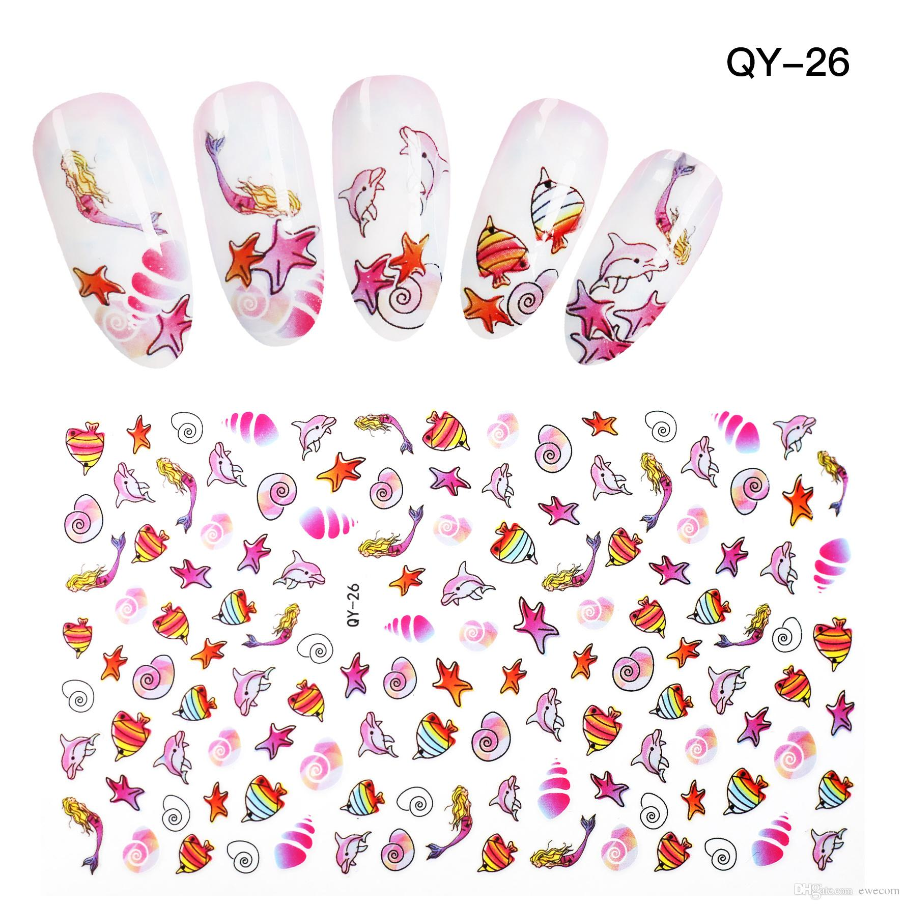 High Quality Cute Cartoon Fish Nail Art Stickers Decals Nail Girl ...