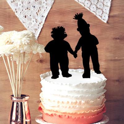 Acheter Decoration De Gateau De Mariage Gay Unique Funny Bert Et