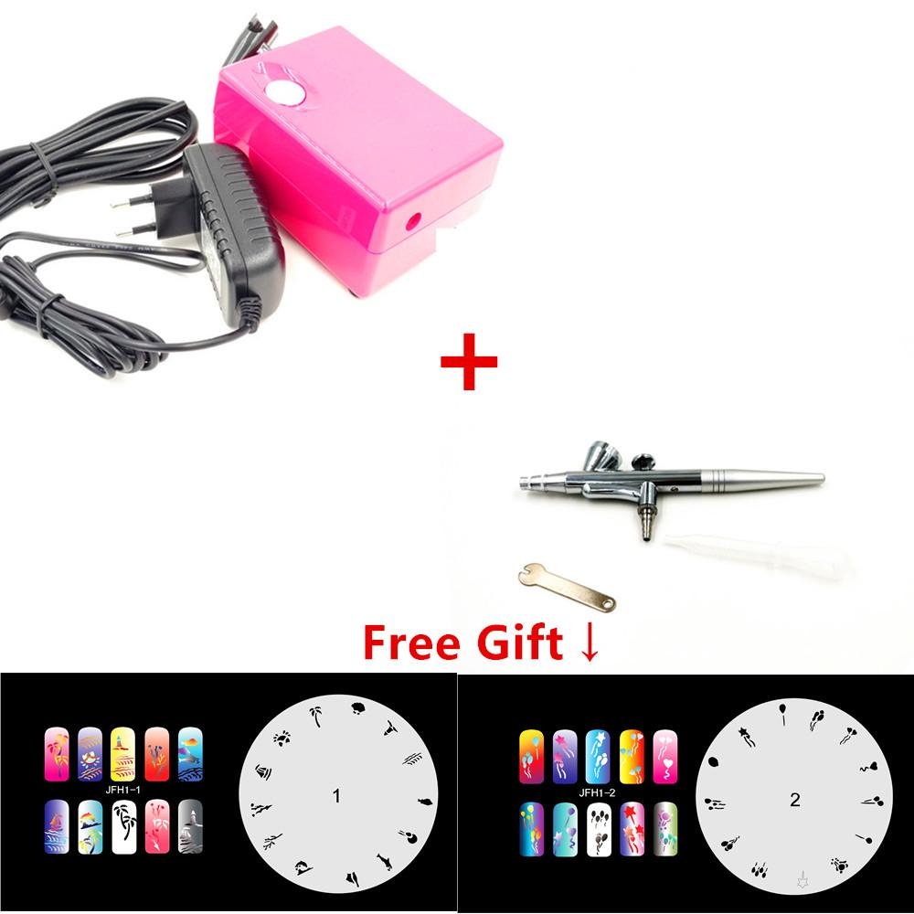 Precision Dual Action Airbrush Kit Pen Makeup Spray For Nail Paint ...