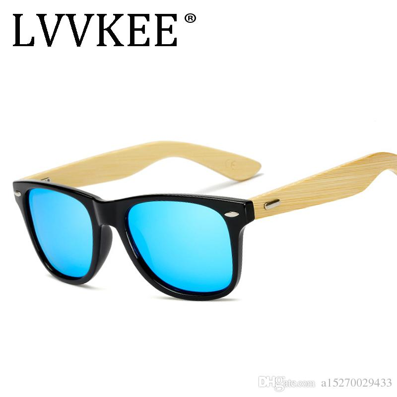 d5196bb2a11 2018 NEW LVVKEE Luxury Wood Driving Polarized Sunglasses Men Bamboo ...