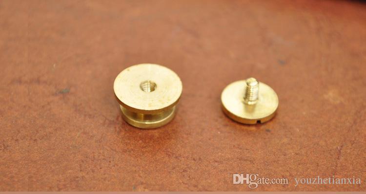 13mm 지갑 가방 스크류 황동 벨트 리벳 diy 수제 가죽 공예 열쇠 케이스 하드웨어 가방 부품 패스너