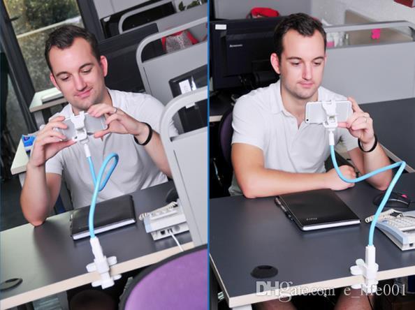 Suporte do telefone móvel universal longo braço suporte de montagem preguiçoso suporte para cama de mesa 360 graus flexível girar montar