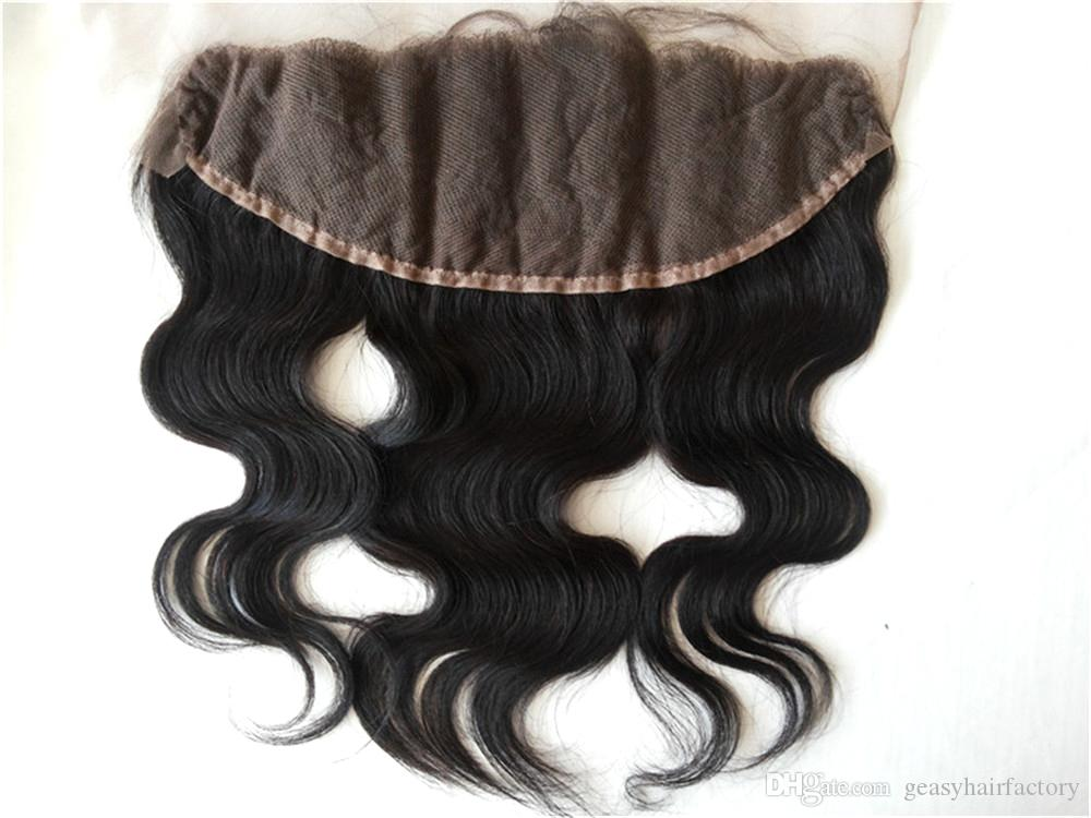 13x4 Ear To Ear Lace Frontal Closure With Bundles Peruvian Body Wave Human Hair Full Frontal Closure With Baby Hair LaurieJ Hair