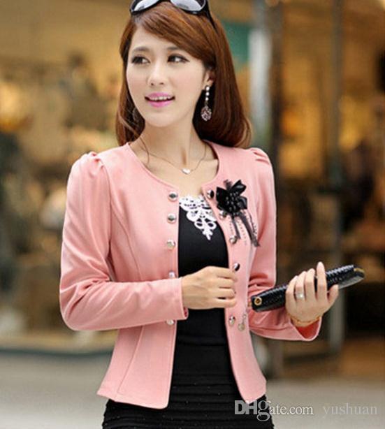 Herbst 2016 Absätze kurze Freizeit weiblichen Anzug, kultivieren jemandes Moral zeigen dünne dünne weibliche kleine Jacken Dünger plus-Größe Mantel