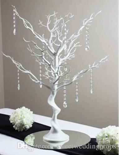 교수형 크리스탈 없음 우아한 도매 나무 중심 / 결혼 테이블 나무 centerpieces / 크리스마스 트리 중심부