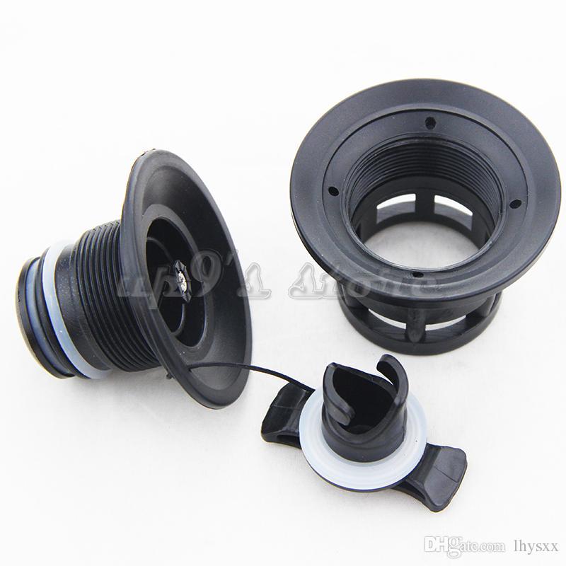 더블 씰 그레이 / 블랙 에어 밸브 + 풍선 보트 뗏목 용 밸브 렌치 래프 딩 히어 카약 카누
