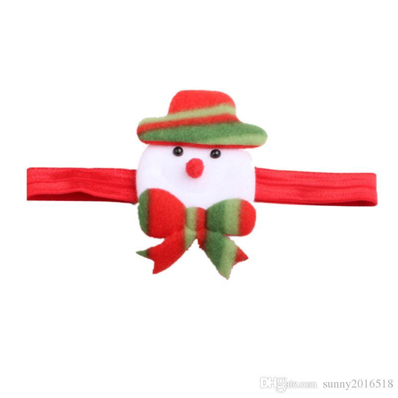 2017 جديد هدايا عيد الميلاد الكرتون سانتا كلوز العصابة للأطفال عيد رباطات لطفلة طفل أغطية الرأس اكسسوارات للشعر الشعر القوس