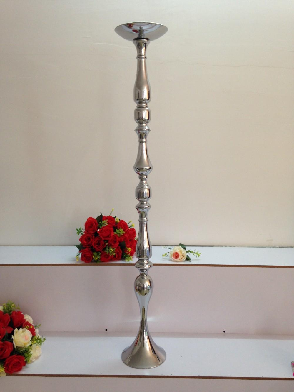 120 cm tall height wedding road lead wedding table centerpiece wedding flower ball holder metal stand T-stage decoration 120 CM
