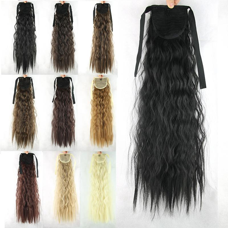 New Peruvian Kinky Curly Drawstring Ponytail 22 Long Synthetic