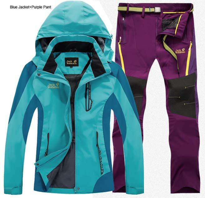 finest selection 0e169 d86ae 2016 Frau Frühling Sommer Trekking Wandern Outdoor-Jacken Damen Angeln  Camping Hose Hoody Parks Hose Jacke + Pant S24W