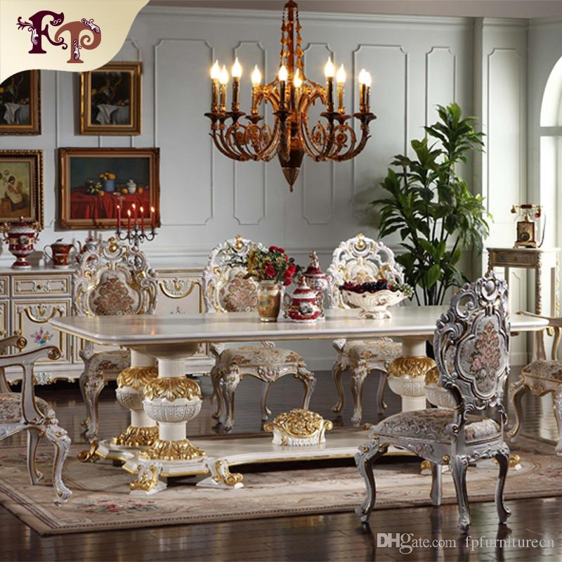 Tuscan Style Dining Room Furniture: 2017 European Antique Dining Room Furniture Hand Carved