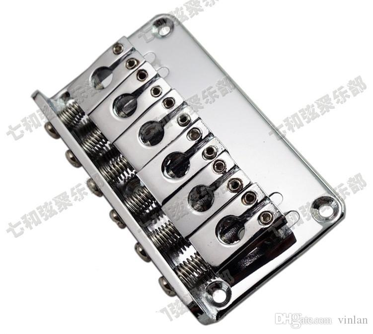guitar parts silver 6 Saddle Hardtail Bridge Top Load 76mm Electric Guitar Bridge Musical instrument accessories
