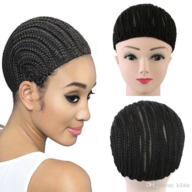Cornrow Wig Caps For Making Wigs Adjustable Braided Wig Cap Weaving