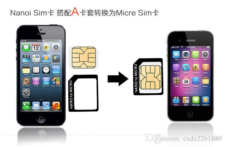 EUB 4IN1 SIM-Kartenadapter für Nano-Mikro-Standard-SIM-Karte Verwendung für iPhone 4G 5G 6S