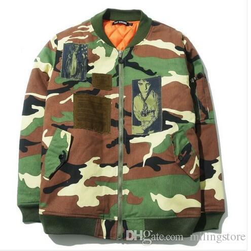 85b19f6b661 016SS Fall Winter Raf Simons KANYE WEST Camouflage Jacket Men MA1 Jacket  Fashion Camo Bomber Jacket Coat Military Jacket Buy Jackets Nylon Jackets  From ...