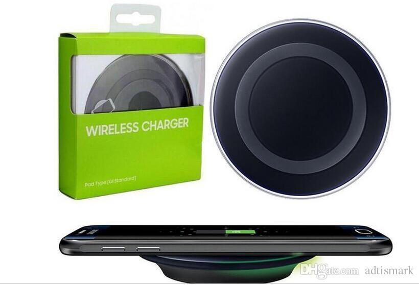 2017 Qi Pad di ricarica caricabatterie wireless veloce Samsung Galaxy S8 S7 S7 edge / S6 / S6 Edge Esge + Nota 5 Nota 4
