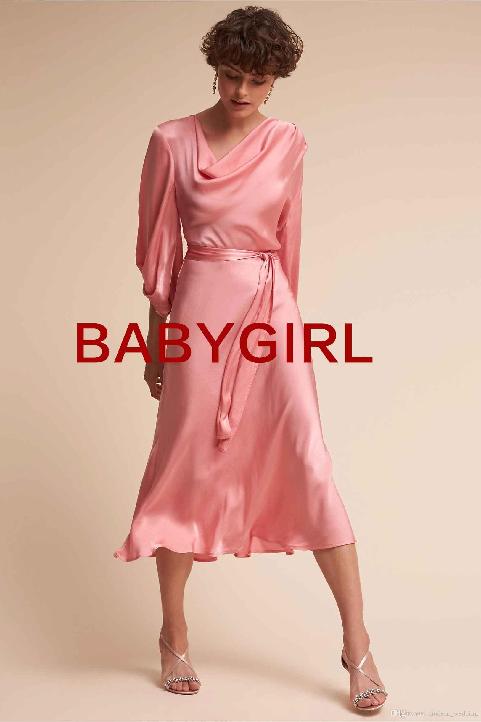 Custom made jewel long sleeve cowl neck dress tea length a bias custom made jewel long sleeve cowl neck dress tea length a bias cut skirt for plenty of movement bridesmaid dress bridesmaid dress stores bridesmaid dresse ombrellifo Image collections