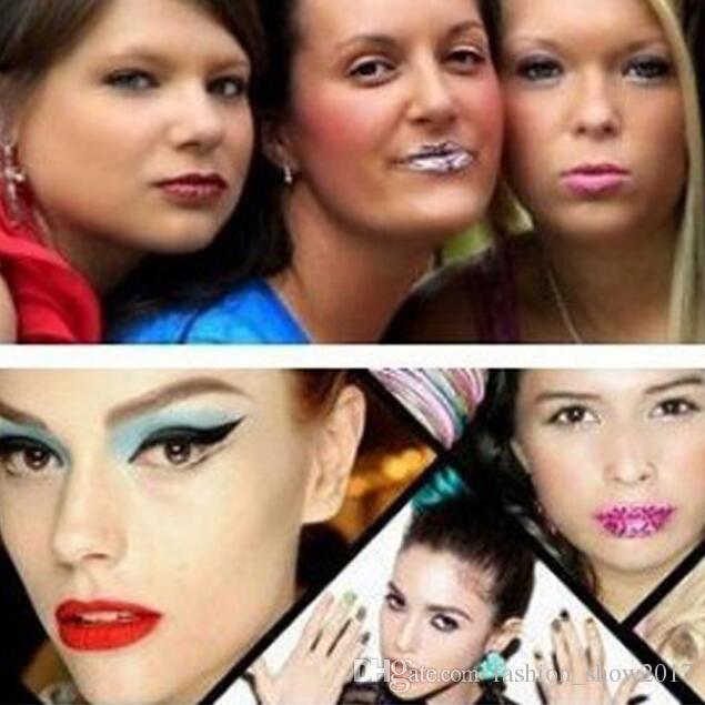 Pegatinas temporales de tatuaje de labios Lápiz labial Transferencias de arte Beso Labios Arte corporal Belleza Maquillaje Impermeable Pegatinas de tatuaje temporal