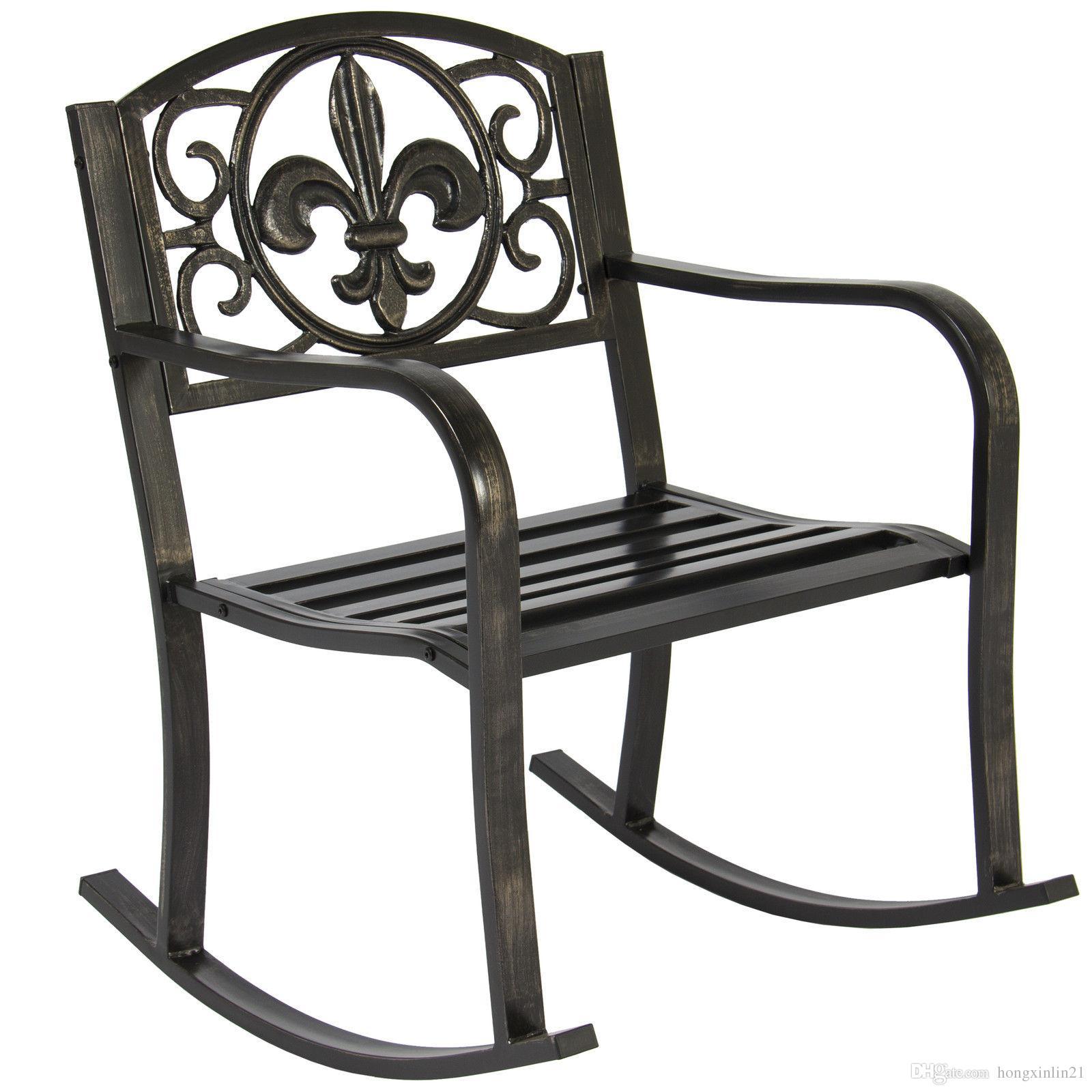 2018 Patio Metal Rocking Chair Porch Seat Deck Outdoor Backyard Glider Rocker From Hongxinlin21 56 28 Dhgate Com