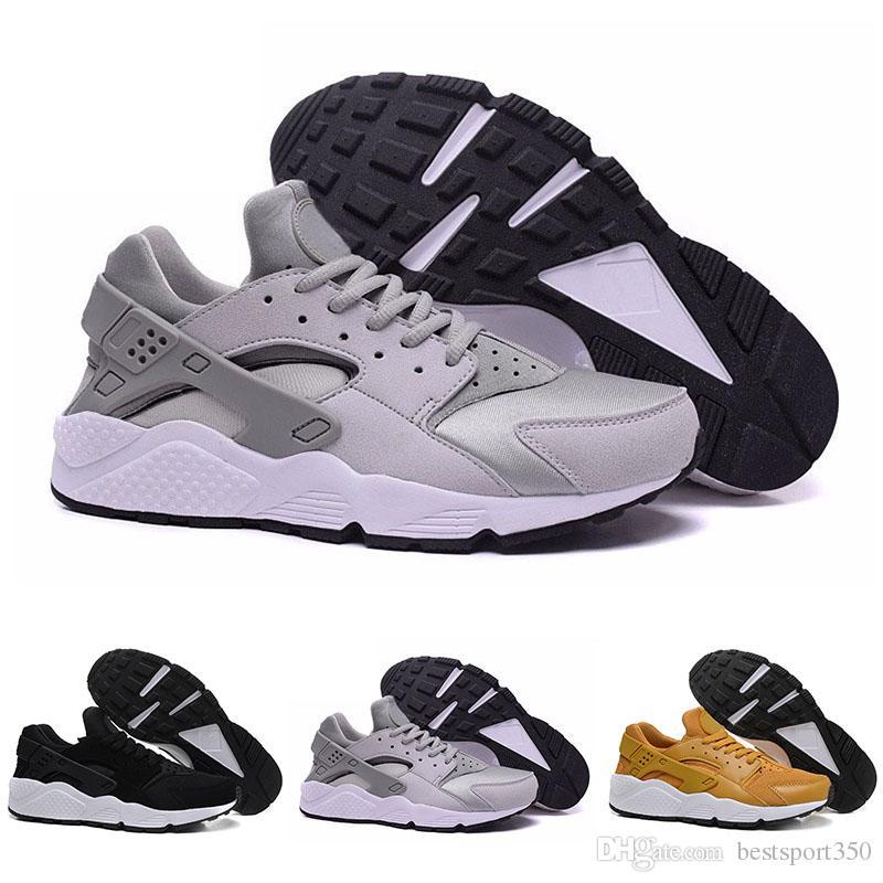 online retailer 4d75d 24a9c Acquista Nike Air Huarache Ultra Scarpe Da Corsa Tripla Bianco Nero Huraches  Scarpe Da Ginnastica Uomo Da Donna Scarpe All aperto Huaraches Scarpe Da ...
