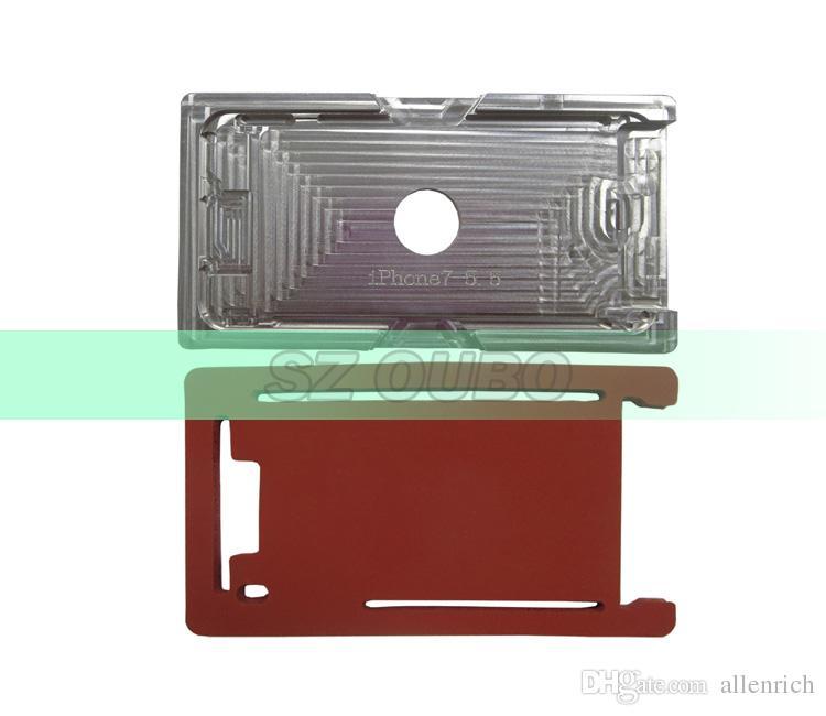 Stampo in alluminio con cornice in vetro iPhone 7 Plus. Stampo in metallo laminato la laminazione OCA