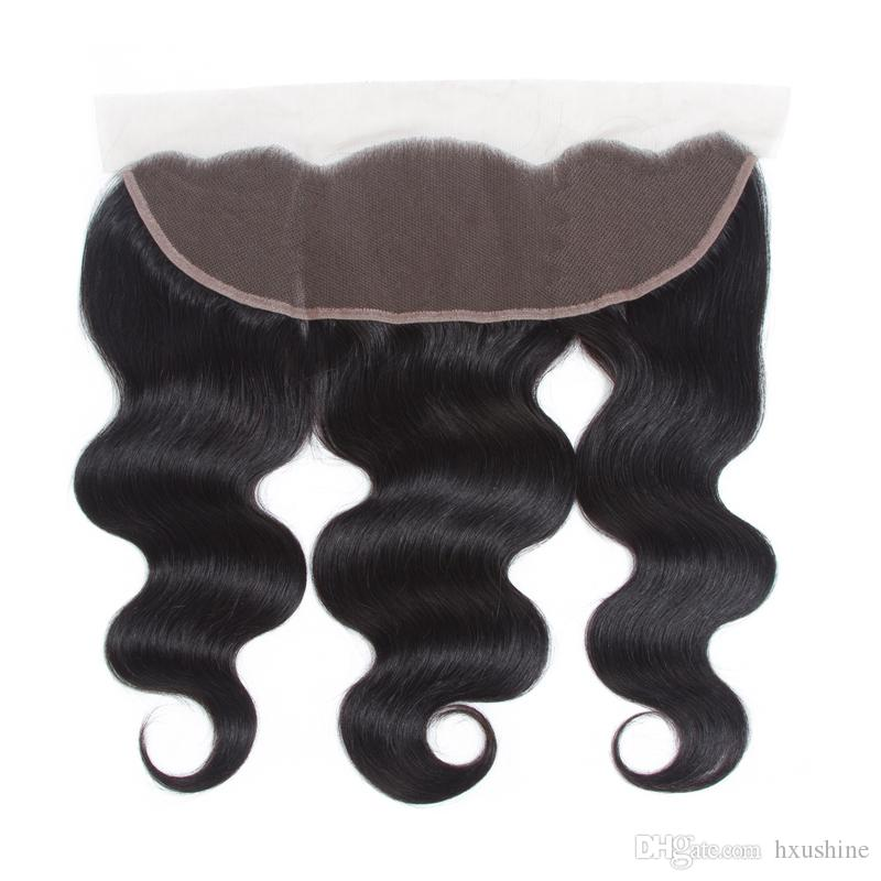 Chinese Virgin Human Hair Bundle Weaves Closure Body Wave Chinese Hair Body Wave with 13x4 Lace Frontal Closure Baby Hair