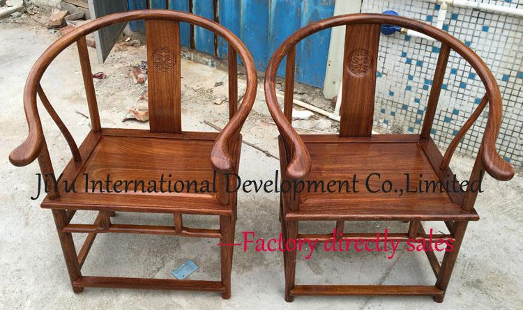 round-backed armchair chinese style antique furniture living room casual chairs luxury wood chairs in 100% African Red sandalwood