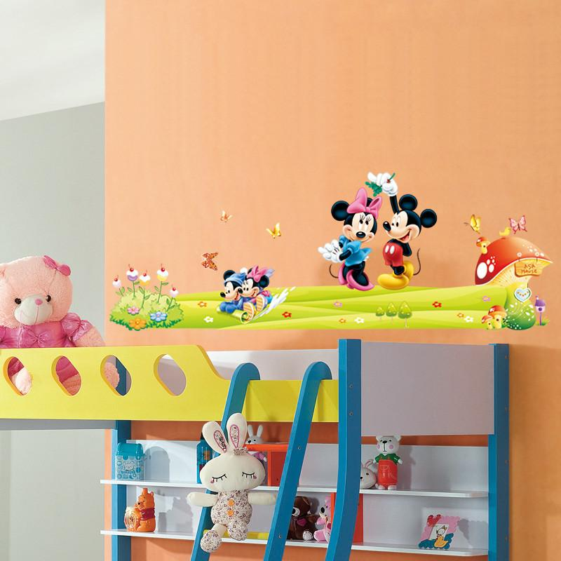 Df5086 Cartoon Lovely Mickey Mouse Minnie Art Kids Room Decor Girls Gift  Home Decal Wall Stickers Art 5086. Baby Room Decor 3.0 Wall Decals Wall  Decals And ... Part 66