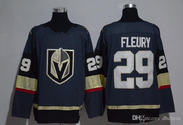 New Vegas Golden Knights Jerseys  29 Fleury Jersey 2017 New Hockey ... ca26eb298ff