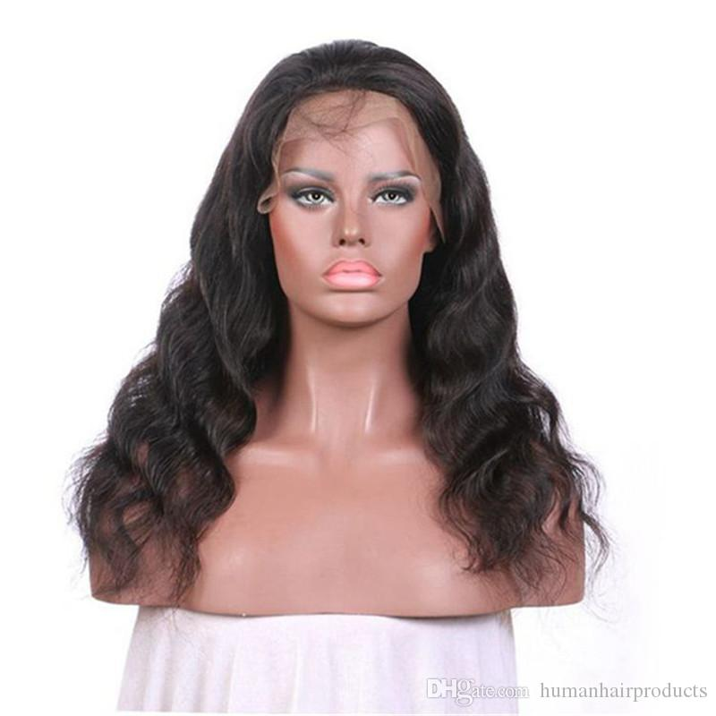 Mongolian Virgin Hair Lace Front Human Hair Wigs Glueless 8-28 Inch Body Wave Full Lace Wigs Fast Shipping FDSHINE HAIR