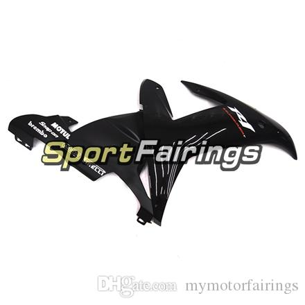 Gloss Black White Decals Plastic ABS Fairings For Yamaha YZF1000 R1 YZF-R1 Year 2002 2003 02 03 Motorcycle Fairing Kit Motorbike Spoiler
